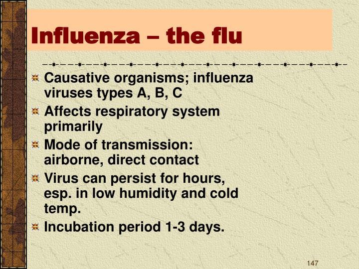 Influenza – the flu