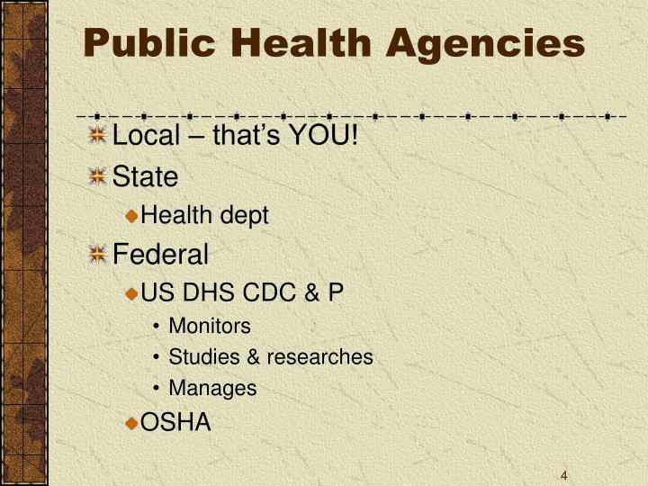 Public Health Agencies