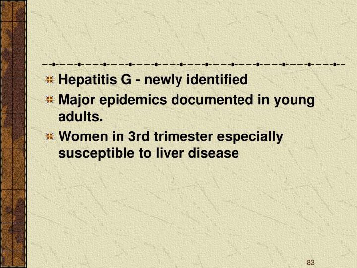 Hepatitis G - newly identified