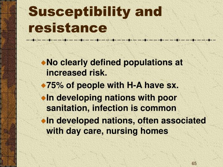 Susceptibility and