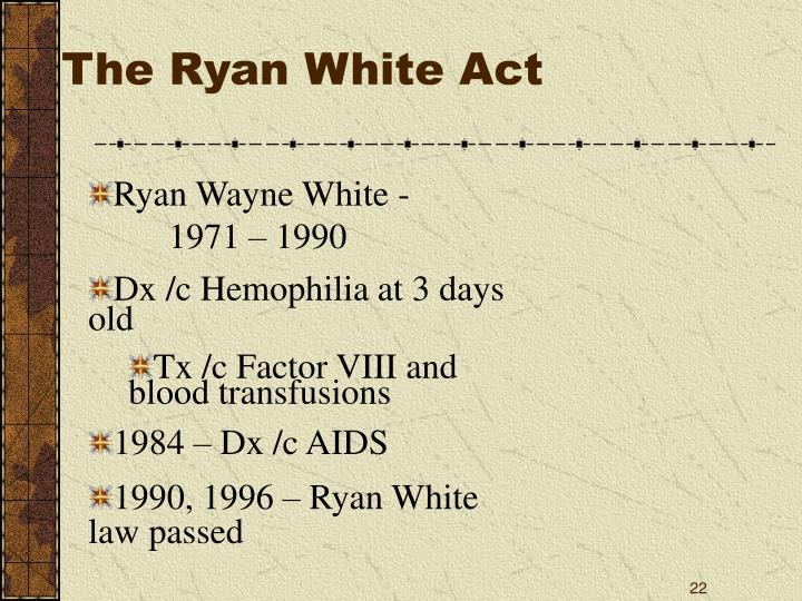 The Ryan White Act
