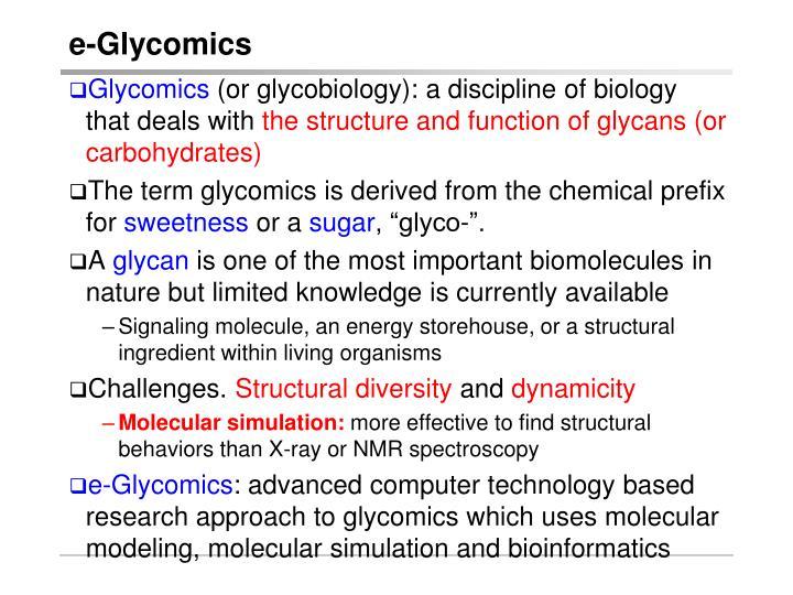 e-Glycomics