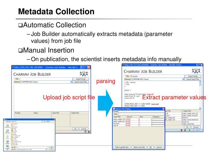 Metadata Collection