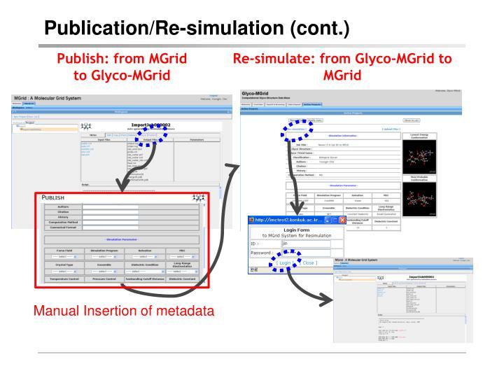 Publication/Re-simulation (cont.)