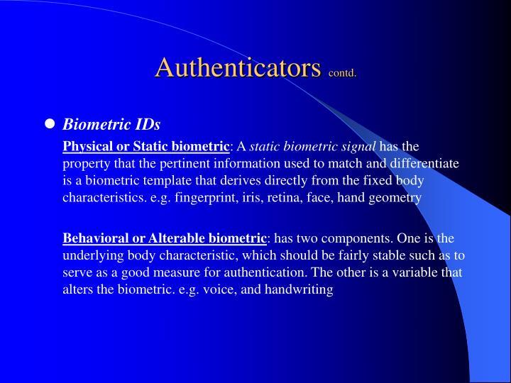 Authenticators