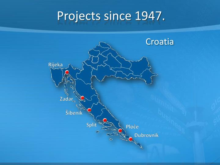 Projects since 1947.