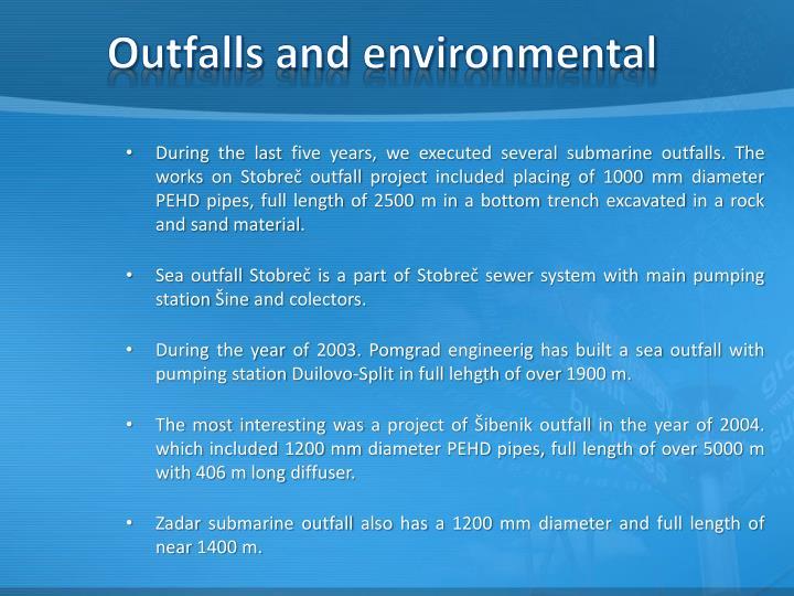 Outfalls and environmental
