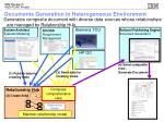 documents generation in heterogeneous environment