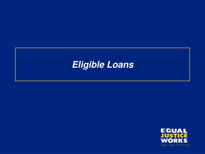 Eligible Loans