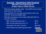example hypothetical 2003 graduate ibr with loan forgiveness for 10 more years in public service