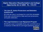 higher education reauthorization and college opportunity act of 2008 p l 110 315