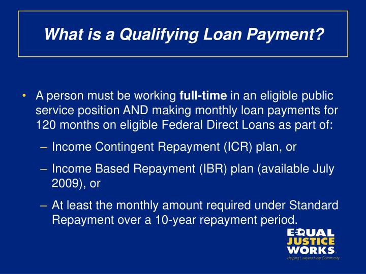 What is a Qualifying Loan Payment?