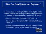 what is a qualifying loan payment