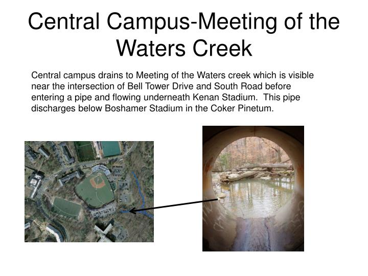 Central Campus-Meeting of the Waters Creek