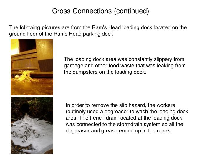 Cross Connections (continued)