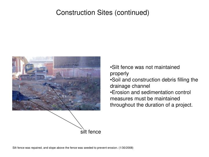 Construction Sites (continued)