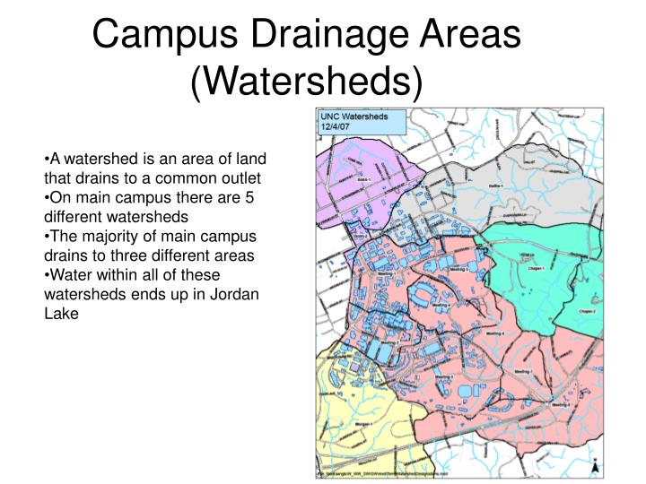 Campus Drainage Areas (Watersheds)