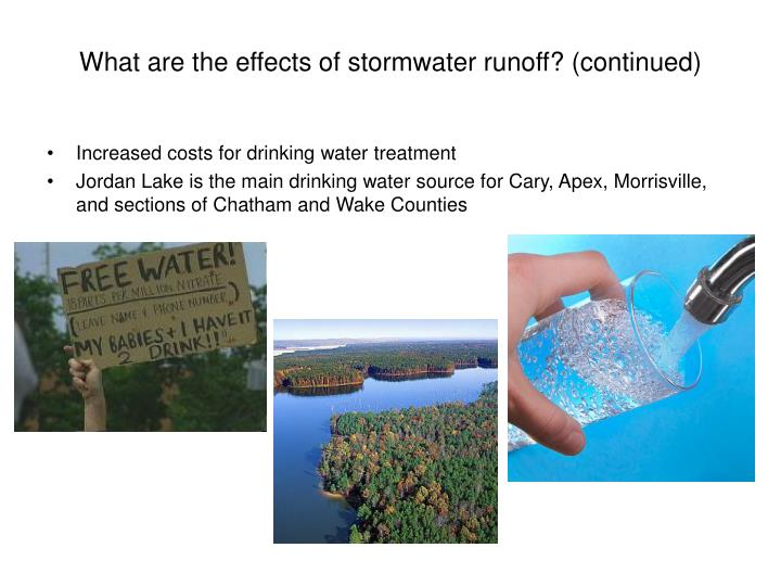 What are the effects of stormwater runoff? (continued)