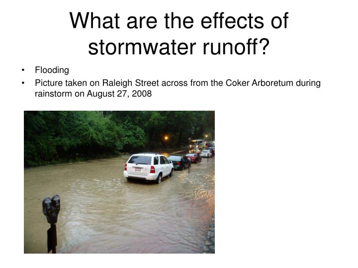 What are the effects of stormwater runoff?
