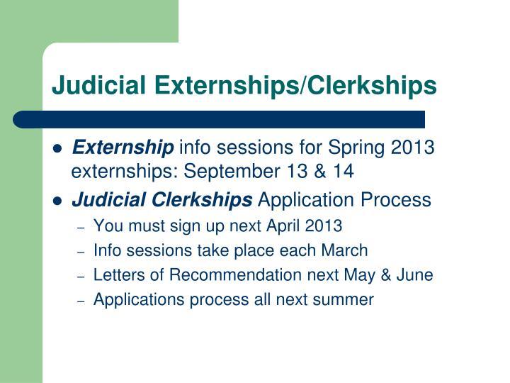Judicial Externships/Clerkships