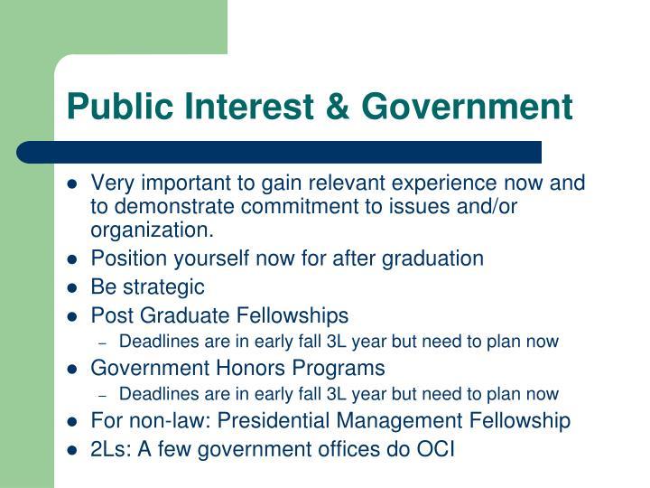 Public Interest & Government