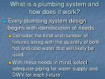 what is a plumbing system and how does it work4