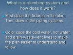 what is a plumbing system and how does it work7