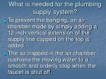 what is needed for the plumbing supply system13