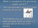 what is needed for the plumbing supply system5