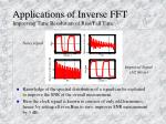 applications of inverse fft improving time resolution of rise fall time