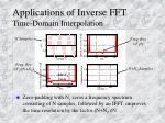 applications of inverse fft time domain interpolation