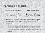 parseval s theorem