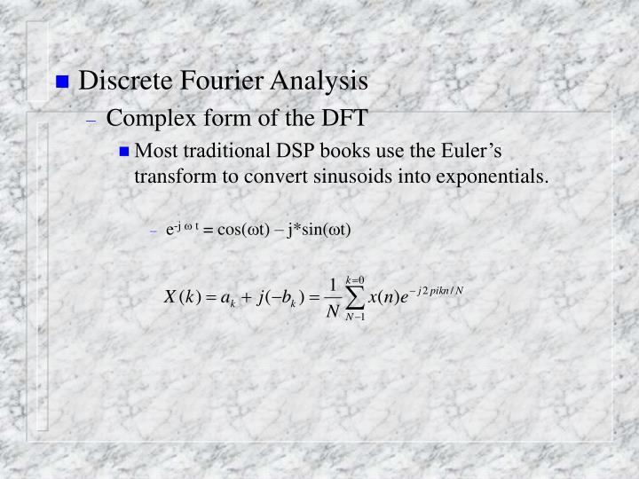 Discrete Fourier Analysis