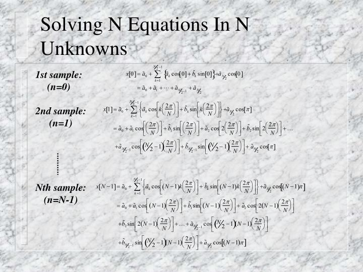 Solving N Equations In N Unknowns