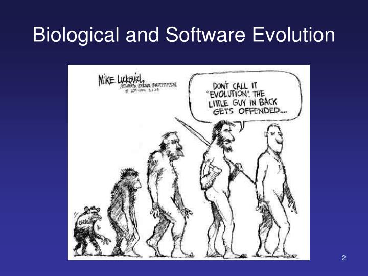 Biological and Software Evolution