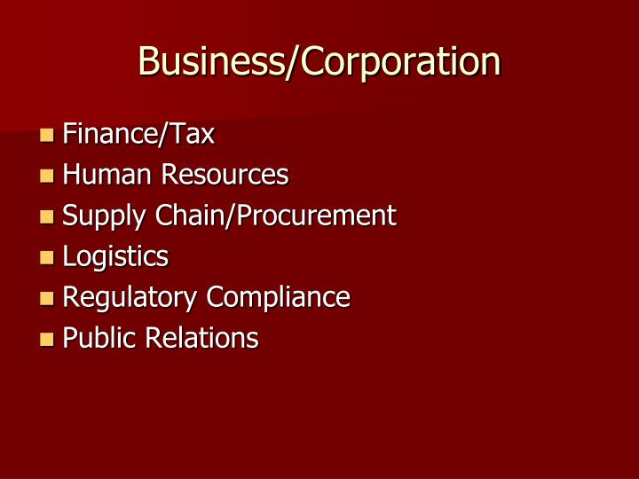 Business/Corporation