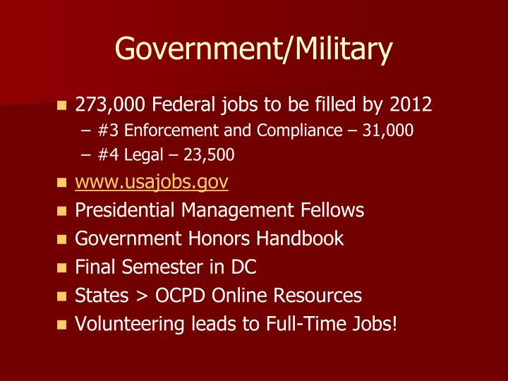 Government/Military
