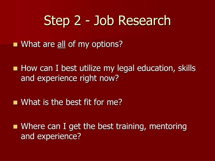 Step 2 - Job Research