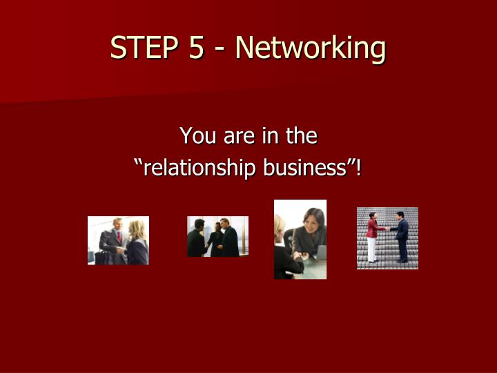 STEP 5 - Networking