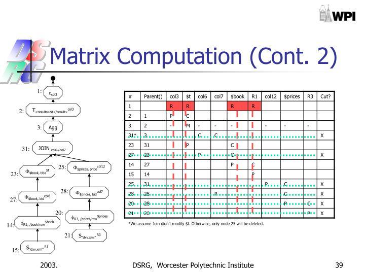 Matrix Computation (Cont. 2)
