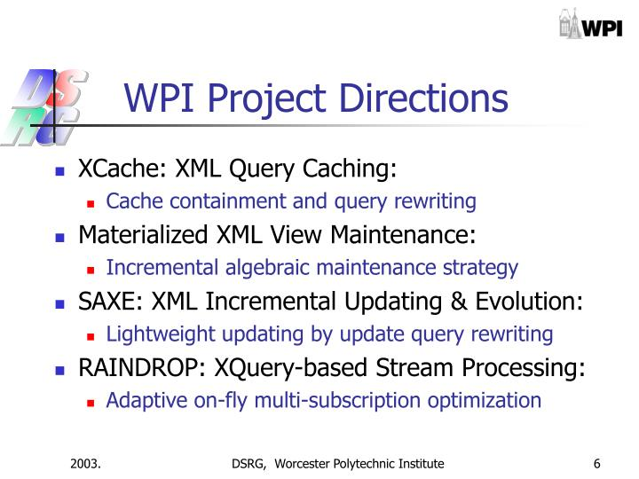 WPI Project Directions