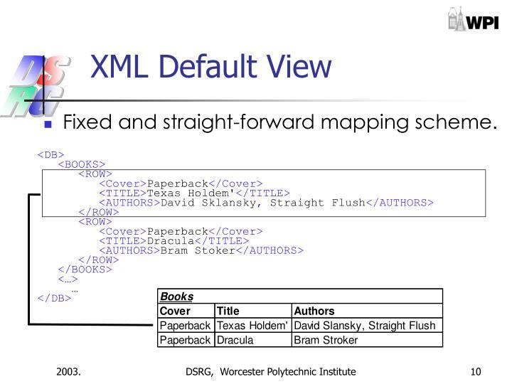 XML Default View