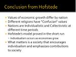 conclusion from hofstede