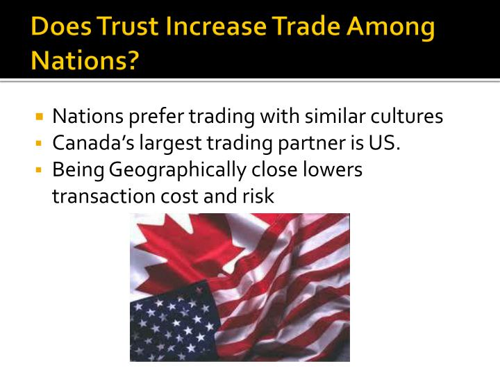 Does Trust Increase Trade Among Nations?