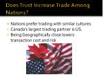 does trust increase trade among nations
