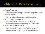 hofstede s cultural dimensions