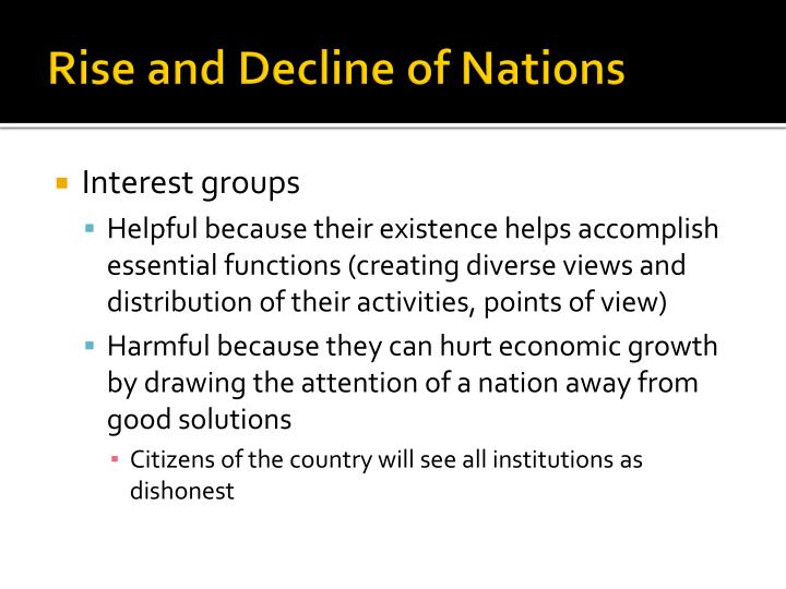 Rise and Decline of Nations