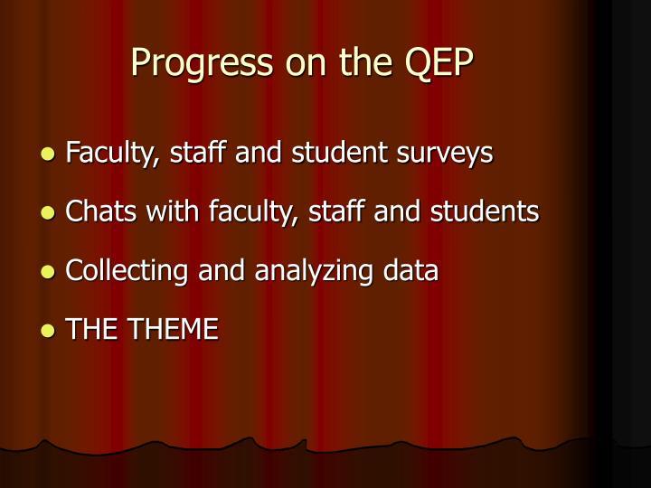 Progress on the QEP