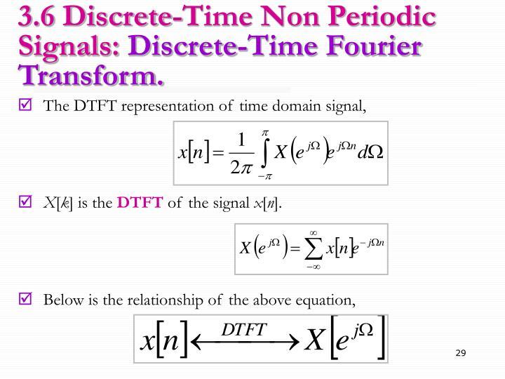 3.6 Discrete-Time Non Periodic Signals: