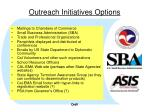 outreach initiatives options